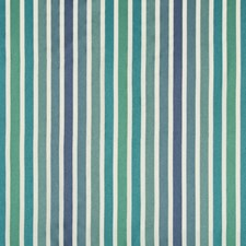 Green/Blue/Light Blue Stripes Drapery and Upholstery Fabric by Kravet