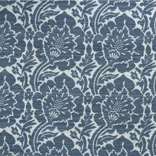 White/Blue/Slate Damask Drapery and Upholstery Fabric by Kravet