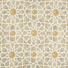Beige/Bronze/White Ethnic Drapery and Upholstery Fabric by Kravet