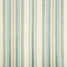 Ivory/Teal/Taupe Stripes Drapery and Upholstery Fabric by Kravet