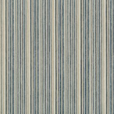 Blue/Beige/Light Grey Stripes Drapery and Upholstery Fabric by Kravet