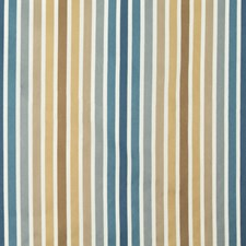 Blue/Brown/Grey Stripes Drapery and Upholstery Fabric by Kravet