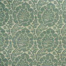 White/Light Green/Light Blue Damask Drapery and Upholstery Fabric by Kravet