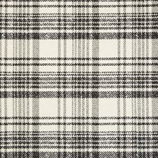 Ivory/Noir Plaid Drapery and Upholstery Fabric by Kravet