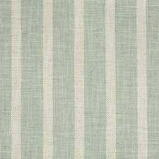 Celery/Turquoise/White Stripes Drapery and Upholstery Fabric by Kravet