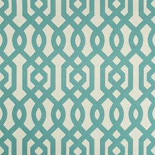Turquoise/Ivory/Beige Lattice Drapery and Upholstery Fabric by Kravet