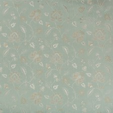 Spa/White Botanical Drapery and Upholstery Fabric by Kravet