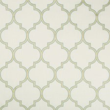 White/Turquoise/Light Green Lattice Drapery and Upholstery Fabric by Kravet