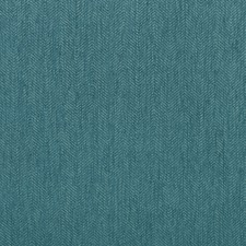 Turquoise/Ivory Herringbone Drapery and Upholstery Fabric by Kravet