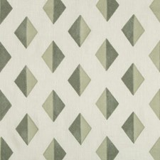 Seafoam Diamond Drapery and Upholstery Fabric by Kravet