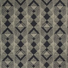 Dark Blue/Ivory Geometric Drapery and Upholstery Fabric by Kravet