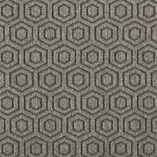 Grey Geometric Drapery and Upholstery Fabric by Kravet