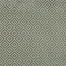 Turquoise/Spa Geometric Drapery and Upholstery Fabric by Kravet