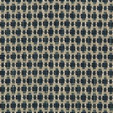 Dark Blue/Indigo Geometric Drapery and Upholstery Fabric by Kravet