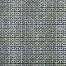 Blue/White/Beige Small Scales Drapery and Upholstery Fabric by Kravet