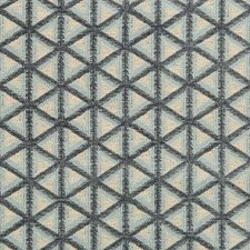 Ivory/Light Blue/Slate Geometric Drapery and Upholstery Fabric by Kravet