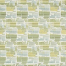 Green/White/Turquoise Contemporary Drapery and Upholstery Fabric by Kravet