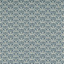 Blue/Light Blue Geometric Drapery and Upholstery Fabric by Kravet