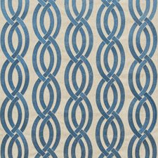 Neutral/Blue Geometric Drapery and Upholstery Fabric by Kravet