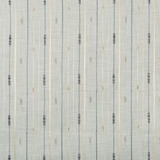 Spa/Ivory/Grey Stripes Drapery and Upholstery Fabric by Kravet