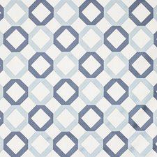White/Blue/Indigo Geometric Drapery and Upholstery Fabric by Kravet