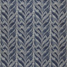 Navy Flamestitch Drapery and Upholstery Fabric by Kravet
