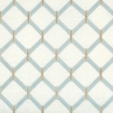 White/Spa/Blue Diamond Drapery and Upholstery Fabric by Kravet