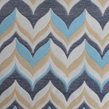 Denim Flame Stitch Drapery and Upholstery Fabric by Duralee