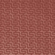 Cherry Geometric Drapery and Upholstery Fabric by Duralee