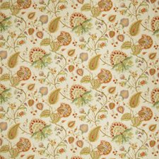 Apricot Floral Drapery and Upholstery Fabric by Fabricut