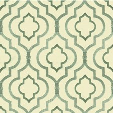 White/Green/Blue Modern Drapery and Upholstery Fabric by Kravet