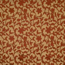 Vermillion Floral Drapery and Upholstery Fabric by Fabricut