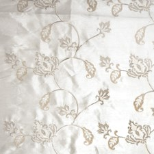 Off White Embroidery Drapery and Upholstery Fabric by Fabricut