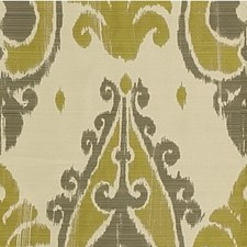 Green/Grey Ethnic Drapery and Upholstery Fabric by Kravet