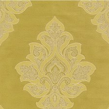 Green Damask Drapery and Upholstery Fabric by Kravet