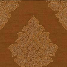 Brown Damask Drapery and Upholstery Fabric by Kravet