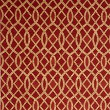 Geranium Lattice Drapery and Upholstery Fabric by Fabricut