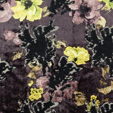 Eggplant Floral Drapery and Upholstery Fabric by Stroheim