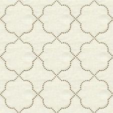 Bone Geometric Drapery and Upholstery Fabric by Kravet