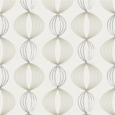 Cream Geometric Drapery and Upholstery Fabric by Kravet