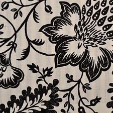 Black/White Floral Medium Drapery and Upholstery Fabric by Duralee