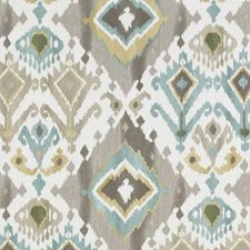 Turquoise/Cocoa Diamond Drapery and Upholstery Fabric by Duralee