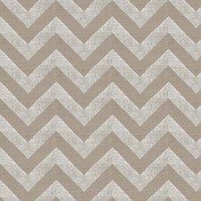 Silver Metallic Flamestitch Drapery and Upholstery Fabric by Trend