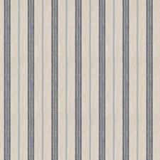 Navy Stripes Drapery and Upholstery Fabric by Trend