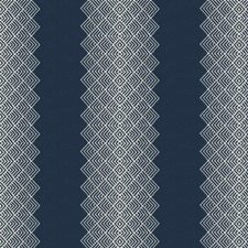 Navy Embroidery Drapery and Upholstery Fabric by Stroheim