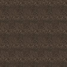Chocolate Animal Drapery and Upholstery Fabric by Trend