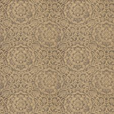 Burnished Gold Medallion Drapery and Upholstery Fabric by Stroheim