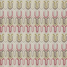 Coral Bean Geometric Drapery and Upholstery Fabric by Fabricut