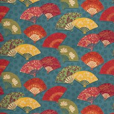 Peacock Asian Drapery and Upholstery Fabric by Fabricut