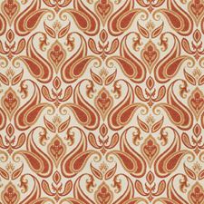 Spice Paisley Drapery and Upholstery Fabric by Trend